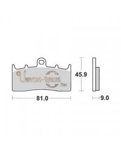 Plaquettes de Frein Avant pour BMW K 1200 LT 2001-2010 SBS 778HF