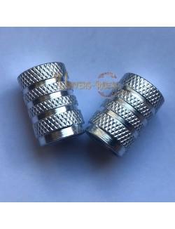Bouchons de valves Nola Argent (paire)