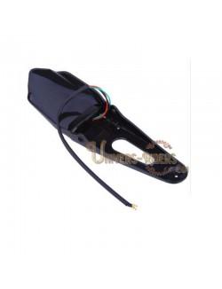 Bavette arrière universelle avec feu arrière LED