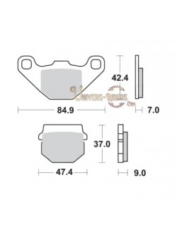 Plaquettes de Frein Arrière pour Aprilia RS4 125 2012-2015 SBS 544HF
