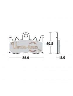 Plaquettes de Frein Avant pour Aprilia Tuono V4R ABS 1000 2014 SBS 900HS