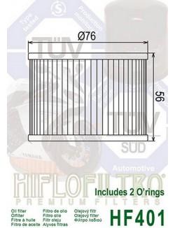 Filtre à Huile Moto Hiflofiltro HF401 pour Kawasaki ZZR 1100 1995-2001