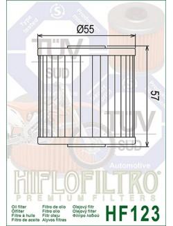 Filtre à Huile Moto Hiflofiltro HF123 pour Kawasaki KL 650 Tengai 1990-1994