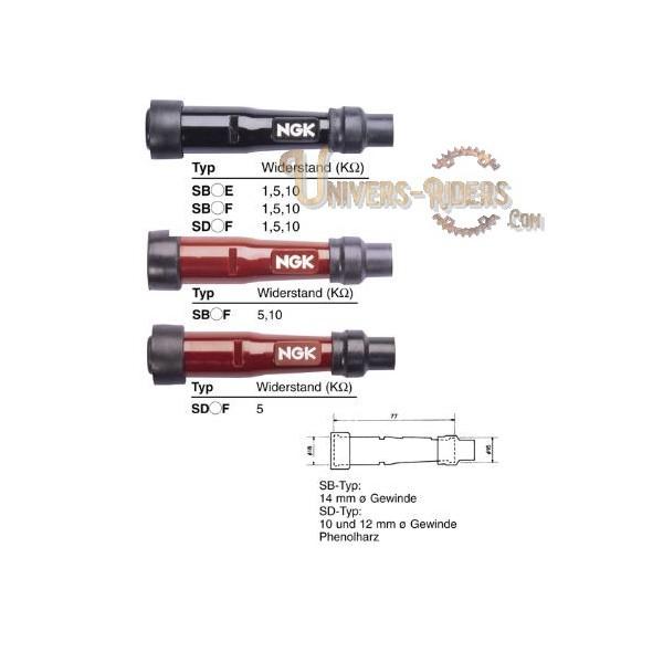 Capuchon antiparasite NGK SD10F [8394]