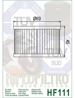 Filtre à Huile Moto Hiflofiltro HF111 pour Honda CMX 450 Rebel 1986-1987