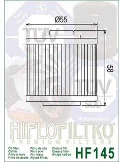Filtre à Huile Moto Hiflofiltro HF145 pour Yamaha XT 660 R 2004-2015