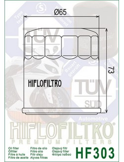 Filtre à Huile Moto Hiflofiltro HF303 pour Yamaha XJ900 S Diversion 1995-2003