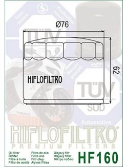Filtre à Huile Moto Hiflofiltro HF160 pour BMW F 800 GS ABS 2016-2017