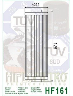 Filtre à Huile Moto Hiflofiltro HF161 pour BMW R 65 3 serie 1985-1988