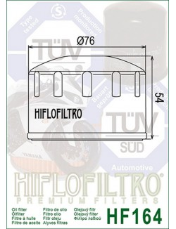 Filtre à Huile Moto Hiflofiltro HF164 pour BMW K 1200 LT ABS 2006-2009