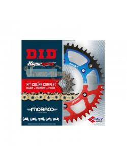 KiKit Chaîne Moto DID V X-ring acier pour Derbi Senda 125 Terra Adventure 2008-2012