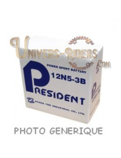 Batterie President 12N5.5A-3B pour Yamaha RD 350 LC 1973-1979