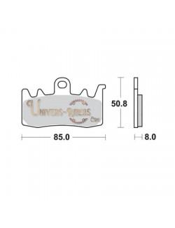 Plaquettes de Frein Avant pour Aprilia RSV 1100 Tuono V4 2015 SBS 900HS