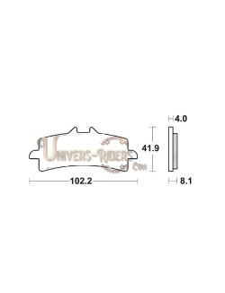 Plaquettes de Frein Avant pour Aprilia RSV 1100 Tuono V4 Factory 2017-2020 SBS 901HS