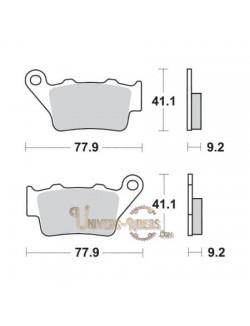 Plaquettes de Frein Arrière pour BMW G 450 SMR 2009-2010 SBS 791RSI
