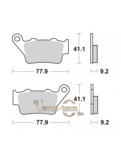 Plaquettes de Frein Arrière pour BMW G 650 X Challenge 2006 SBS 675LS