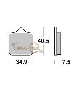 Plaquettes de Frein Avant pour Aprilia RSV 1000 Tuono R Factory RR  2004-2011 SBS 762HS