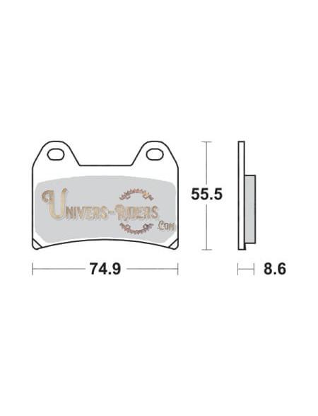 Plaquettes de Frein Avant pour Benelli Tnt 899 2007-2015 SBS 706SP