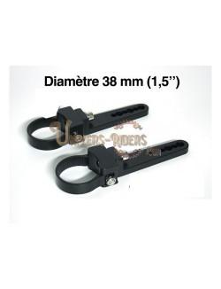 """Paire de fixations pour tube - 38 mm (1,5"""")"""