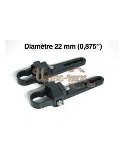 """Paire de fixations pour tube - 22 mm (0,875"""")"""