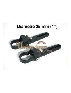 """Paire de fixations pour tube - 25 mm (1"""")"""