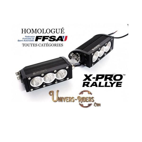 Phares de virages LED X-PRO RALLYE Homologués FFSA (la paire)