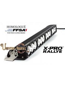 Rampe LED X-PRO RALLYE Longue Portée Homologuée FFSA
