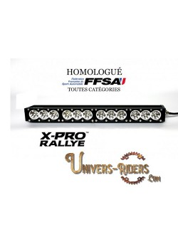 Rampe LED X-PRO RALLYE 60,2 cm Longue Portée Homologuée FFSA