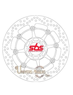 Disque de frein moto Avant pour Aprilia ETV 1000 Caponord Rally Raid 2003-2008 SBS 5024