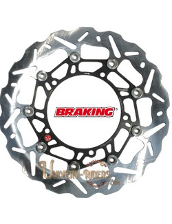 Disque de frein moto Avant Droit Braking Wave pour Aprilia RSV 1000 Tuono R Factory 2004-2011