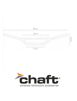 Guidon Cross Chaft Alu Mat