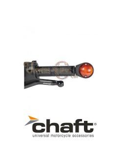 Clignotants Ampoule Homologués Iconic Noir/Orange pour Café Racer