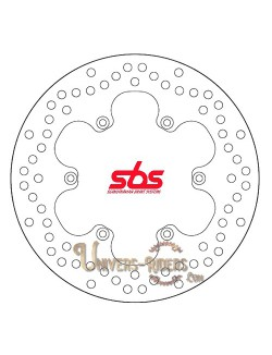 Disque de frein moto Arrière pour Benelli TNT 1130 Titanium 2005-2014 SBS 5089