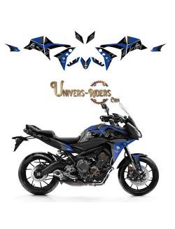 Kit Deco UP MAXIMIZE pour Yamaha Tracer 900 et ABS 2015-2017 Noir-Bleu
