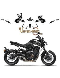 Kit Deco UP MAXIMIZE pour Yamaha MT09 2017 Noir-Blanc