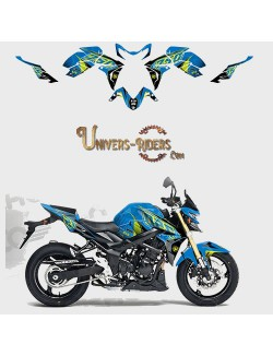 Kit Deco UP MAXIMIZE pour Suzuki GSR750 2008-2016 Bleu-Jaune