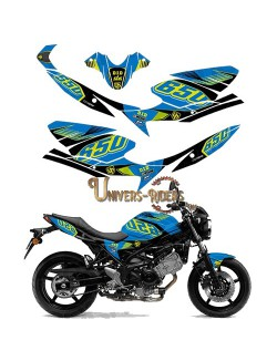 Kit Deco UP MAXIMIZE pour Suzuki SV650 2008-2016 Bleu-Jaune