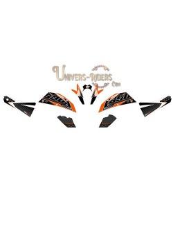 Kit Deco UP MAXIMIZE pour KTM Duke 690 2008-2011 Noir-Orange