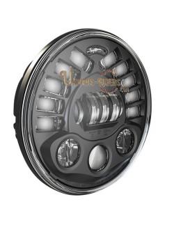 """Phare à LED Auto-Directionnels Noir de 18 cm (7"""") 8791 avec support de fixation"""
