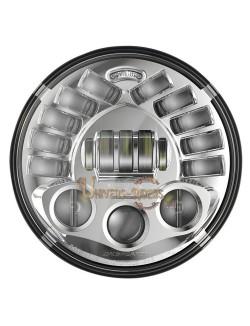 """Phare à LED Auto-Directionnels Chromé de 18 cm (7"""") 8791 avec support de fixation"""