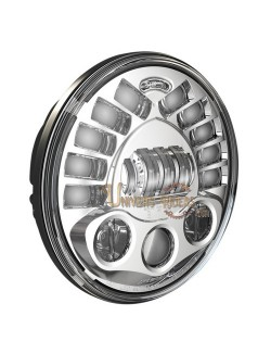 """Phare à LED Chromé de 18 cm (7"""") 8791 avec support de fixation"""