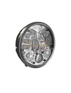 """Phare à LED Chromé de 14,5 cm (5,75"""") 8691 avec support de fixation"""