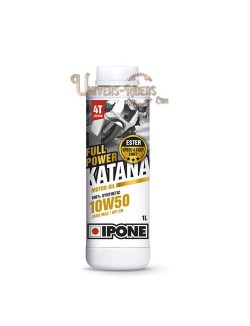 Huile moteur  Ipone Full Power Katana 10W50 100% synthétique  4T (2 litres)