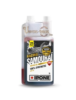 Huile moteur  Ipone Samouraï Racing 100% synthétique 2T (1 litre)