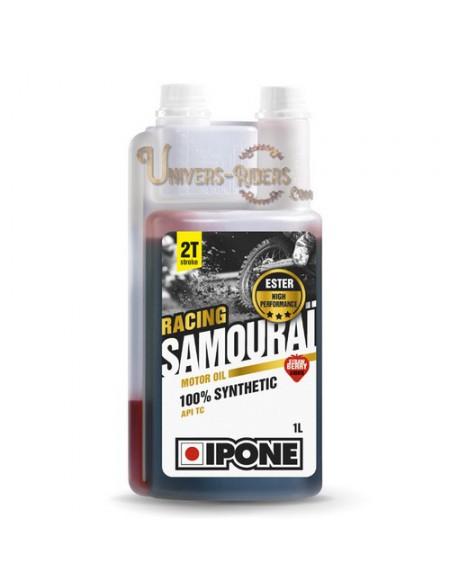 Huile moteur  Ipone Samouraï Racing Senter Fraise 100% synthétique 2T (1 litre)