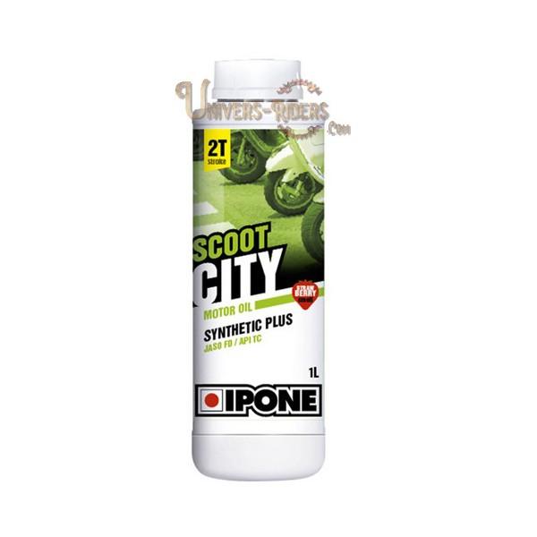 Huile moteur  Ipone Scoot City Senteur fraise Synthétique plus 2T (1 litre)