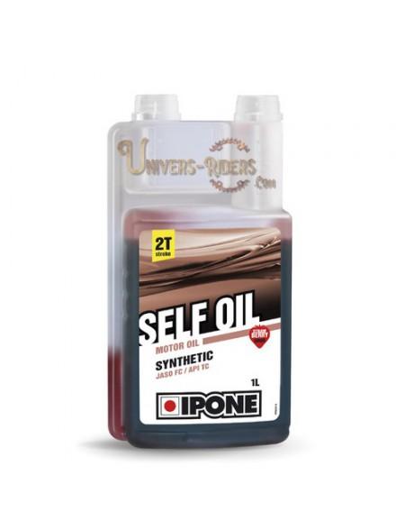 Huile moteur  Ipone Self Oil Senteur fraise Synthétique 2T (1 litre)
