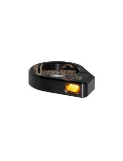 Clignotants LED Micro Noir pour fourches de 39 mm à 41 mm