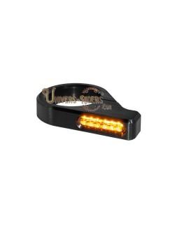 Clignotants LED Classic Noir pour fourches de 54 mm à 56 mm