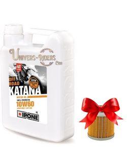 Huile moteur / Boite Ipone Katana Off Road 10W60 100% synthétique 4T (4 litres)